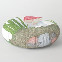 Amanita Muscaria Floor Pillow
