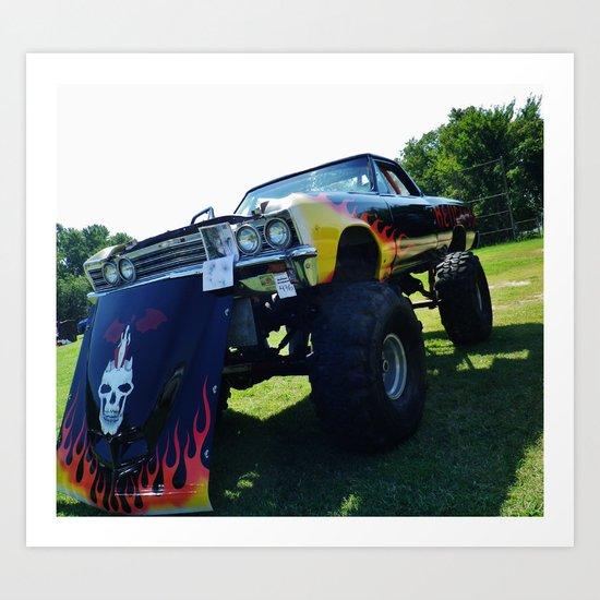 monster car Art Print