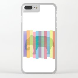 Color Elephant Clear iPhone Case