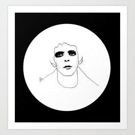 Lou Reed B & W Art Print