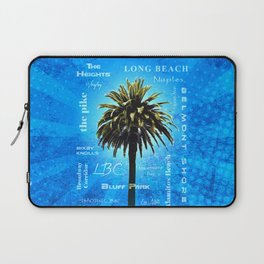 Long Beach, California - Palm Tree -  Pop Art Laptop Sleeve