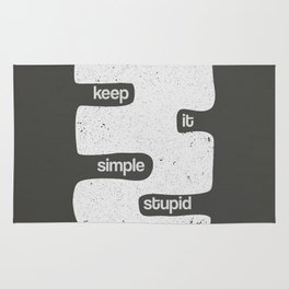 Kiss - Keep it simple stupid - Black and White Rug