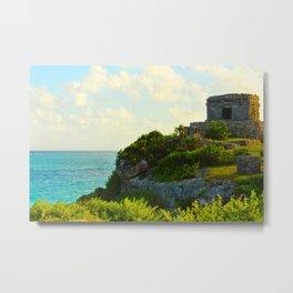 Temple of the Wind God in the Yucatan Metal Print