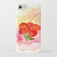 hibiscus iPhone & iPod Cases featuring Hibiscus by ladyberula