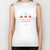 donkey kong Biker Tanks featuring Donkey Kong by Slippytee Clothing