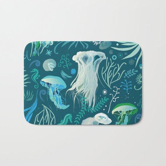 Aqua pattern Bath Mat