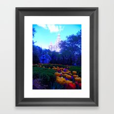 Path of Petals Framed Art Print