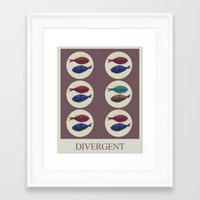 divergent Framed Art Prints featuring Divergent by Galen Valle