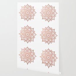 New Rose Gold Mandala Wallpaper
