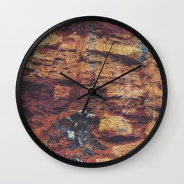 Rustic Layered Rock Texture Wall Clock