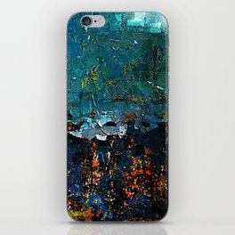 Textured Turquoise Abstract iPhone Skin