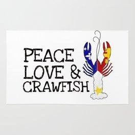 Peace, Love & Crawfish Rug