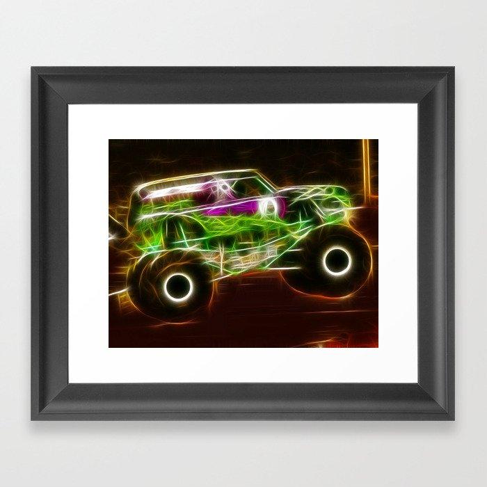 Magical Grave Digger Monster Truck Framed Art Print By Paulvanscott Society6