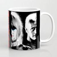 blade runner Mugs featuring Blade Runner Nexus 6 by PsychoBudgie