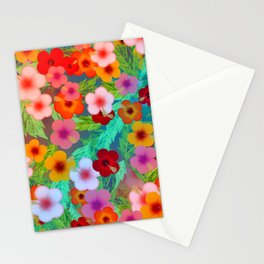 Colorful Hibiscus Stationery Cards