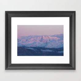Perfect sunrise in South Tyrol - Landscape and Nature Photography Framed Art Print