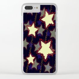 Star & Stripes Clear iPhone Case