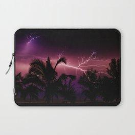 Sunset Lightening Storm (Color) Laptop Sleeve