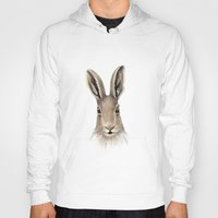 hare Hoodies featuring Hare by natlovesrooby