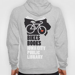 Bikes Books Iowa City Public Library Hoody