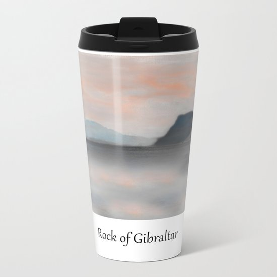 Rock of Gibraltar Metal Travel Mug