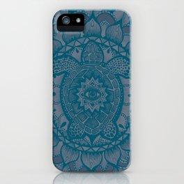 Turtle Mandala by Julie Oakes iPhone Case