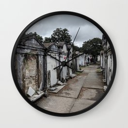 A Cemetery in New Orleans Wall Clock