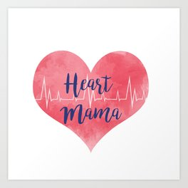 Heart Mama Art Print
