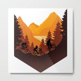 Funny biker fashion. All who love nature will love it Metal Print