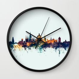 Oxford England Skyline Wall Clock