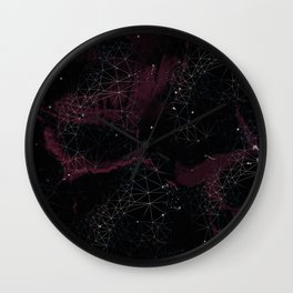 Geometric Galaxy Wall Clock