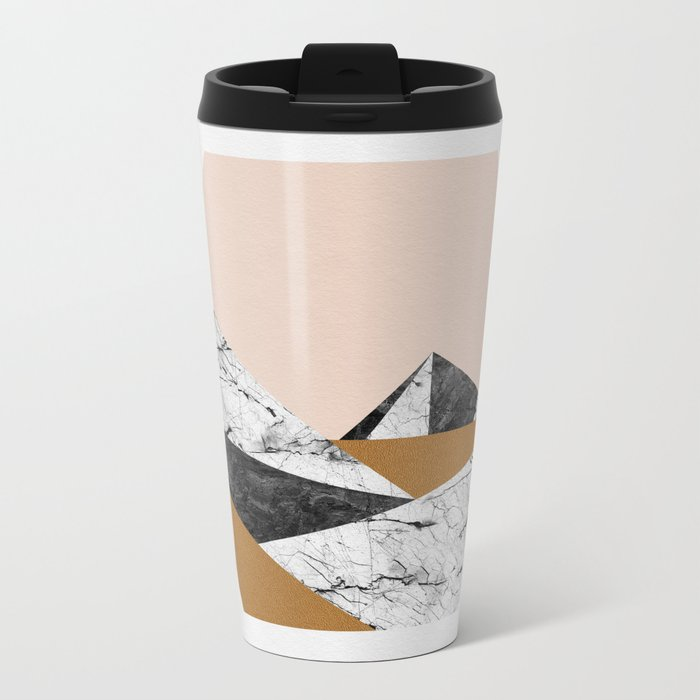 Geo Landscape Hexagon Metal Travel Mug