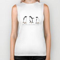 Power Animal Penguins Biker Tank