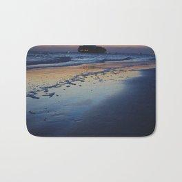 Boat in Distance- #beach #landscape #photography Bath Mat