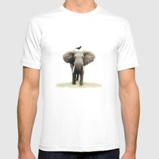 friends for life Mens Fitted Tee LARGE White