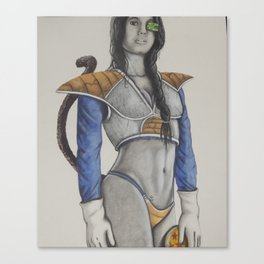 Saiyan Princess Canvas Print