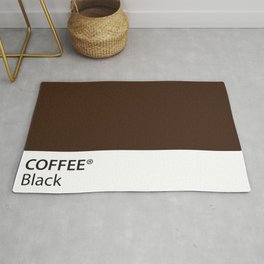 Coffee Black True Color Artwork for Coffee Lovers Rug