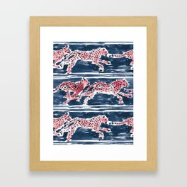 Navy SPEEDY CHEETAHS Framed Art Print