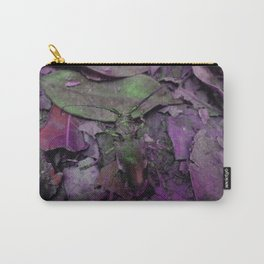 Longhorn Beetle in Pink Carry-All Pouch