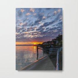 sunset at Meersburg, Bodensee Metal Print