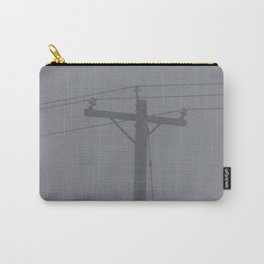 Telephone Pole in the Fog Carry-All Pouch