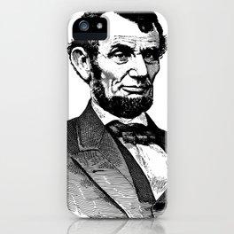 Abraham Lincoln Portrait Illustration iPhone Case