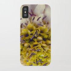 Flower Purple Yellow iPhone X Slim Case