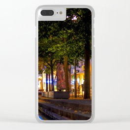 Laubach Laupheim by night Clear iPhone Case
