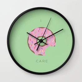 I Donut Care! Wall Clock