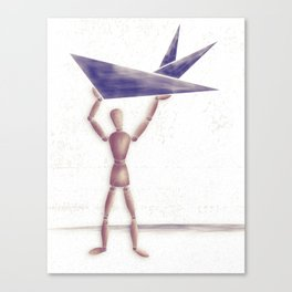 Man With Triangles  Canvas Print