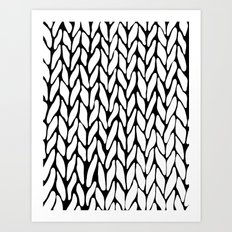Hand Knitted Art Print