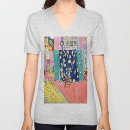 Henri Matisse The Pink Studio Unisex V-Neck