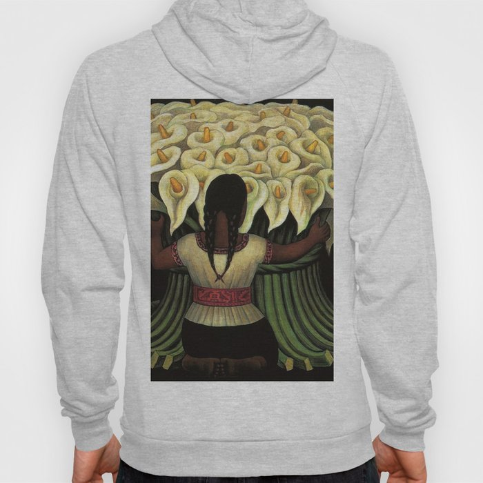 1941 Classical Masterpiece Calla lily 'Flower Seller' by Diego Rivera Hoody