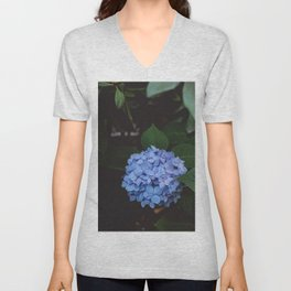 Blue Hydrangeas Unisex V-Neck